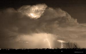 Sepia Thunderstorm Boulder County Colorado