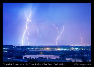 Natures Light Show Over The Boulder Reservoir