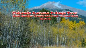 COLORADO FALL FOLIAGE Tour West Boulder County and Peak to Peak Hwy