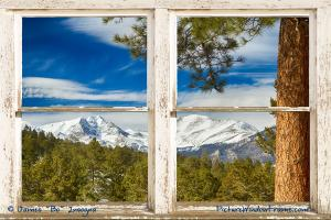 Colorado Rocky Mountain Rustic Window View Art